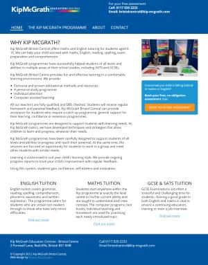 KipMcGrath Bistol Central website screenshot